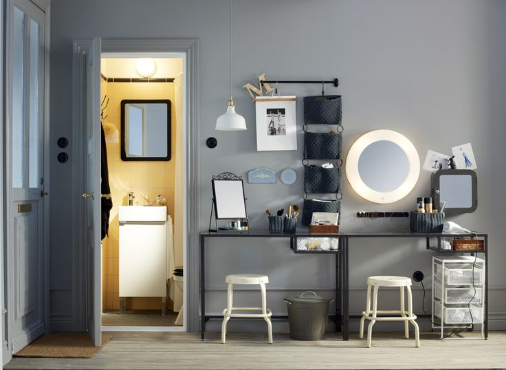 LILLJORM spiegel met geïntegreerde verlichting | #IKEAcatalogus #nieuw #2017 #IKEA #IKEAnl #magneetlijst #badkamer #hal #slaapkamer #spiegel #laptoptafel #kamer #kruk