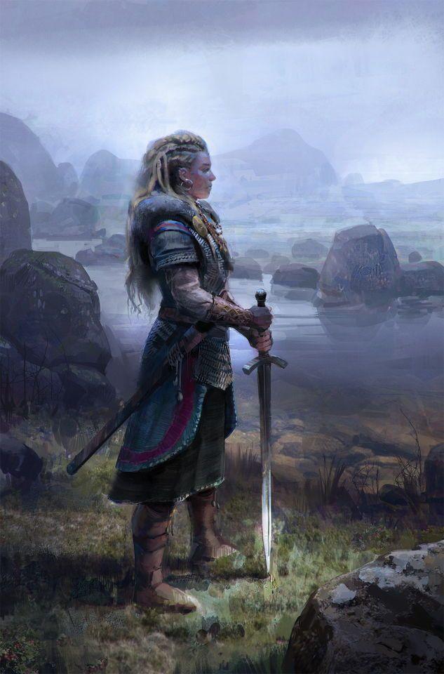 Shield Maiden Prepares More Character Art Fantasy Art