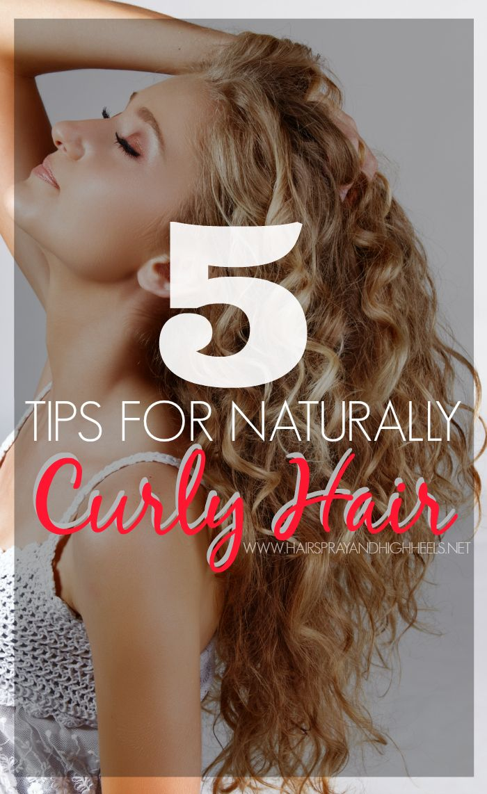 Curly Hair Tips! Hairspray and Highheels shares 5 curly hair tips from a professional hair stylist! From how to brush it to what products to use to style for your hair type!