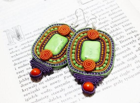 Soutache Jewelry Soutache Earrings Ethnic Jewelry by Herinia