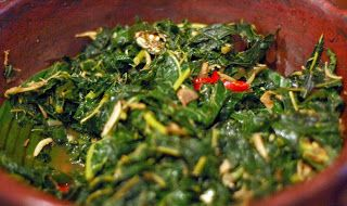Resep Masakan Indonesia: Resep Tumis Daun Singkong Pedas