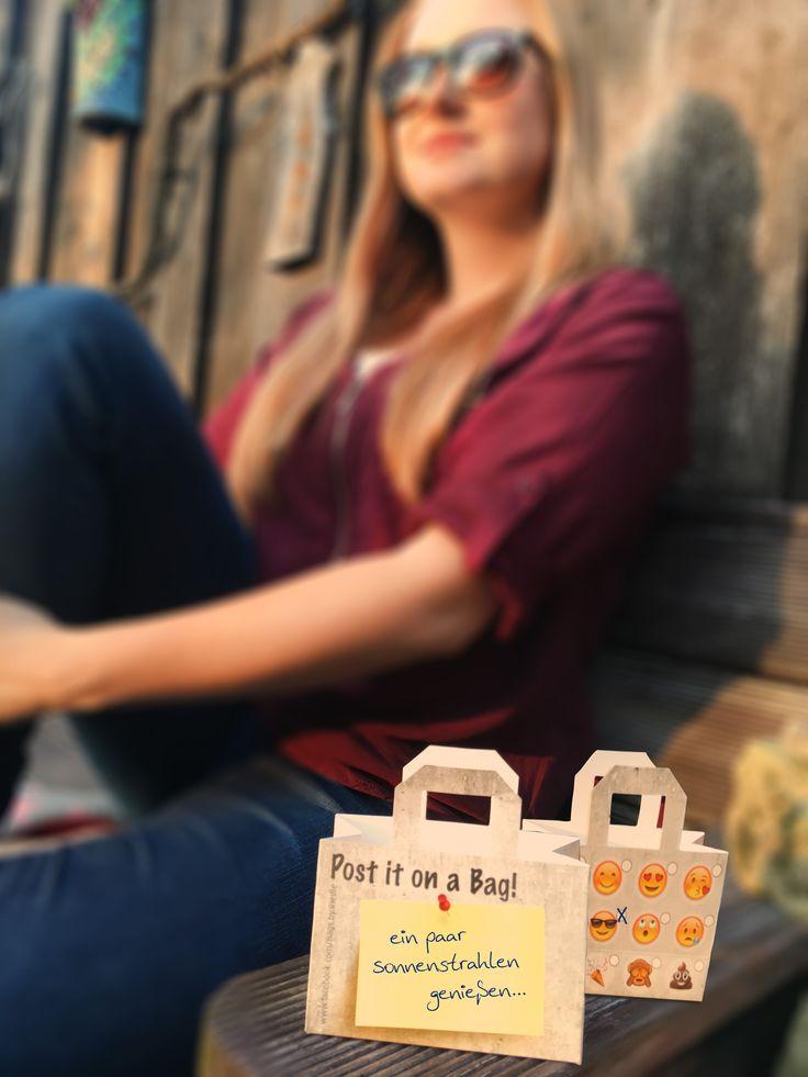 Sonnige Grüße mit der EmojiBag - Papiertasche verschicken
