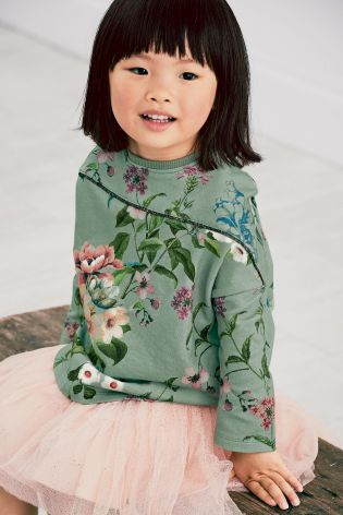 Buy Green Floral Crew (3mths-6yrs) online today at Next: United States of America