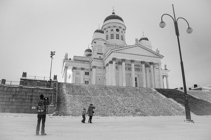 Free photo Helsinki Cathedral Person Tourism Old Helsinki - Max Pixel