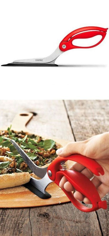Pizza Scissors // Cut and serve pizza easily! Genius invention: I always make a mess with the roller-cutter! #product_design
