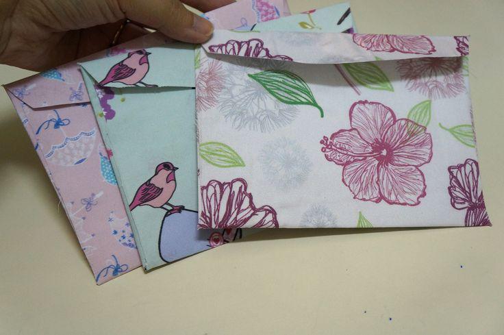 Como fazer lindos envelopes, com tecido laminado,  para acompanhar seus trabalhos