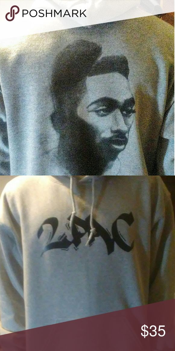 Tupac custom hoodie. New without tags Custom made Hooded sweat shirt Sport grey color    Tags: tupac, all eyes on me, 2pac, #Tupac movie, #thuglife, #thugpassion, custom tees, Shirts Sweatshirts & Hoodies