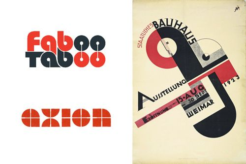 Example of a modern logo using the bauhaus art movement style