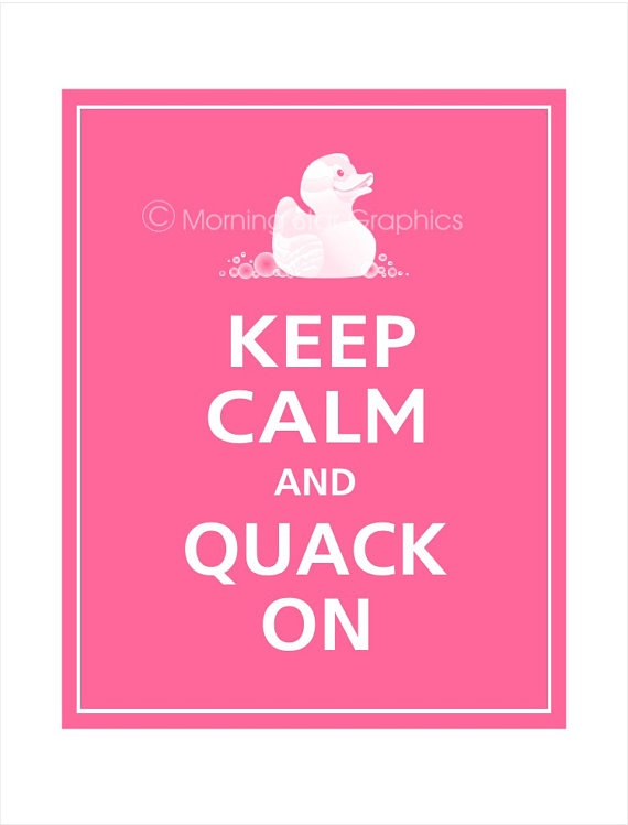pink ducky shower