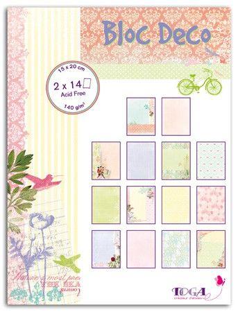 Bloc Déco Rendez-Vous - 28 feuilles de papiers 15x20