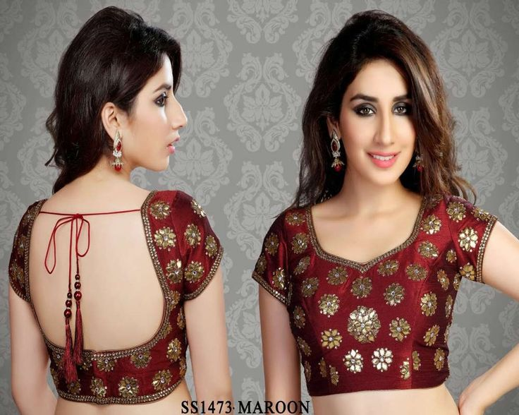 Maroon Brocade Saree Blouse http://rajasthanispecial.com/index.php/maroon-brocade-saree-blouse.html