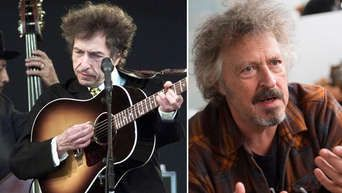 Wolfgang Niedecken (r.) gratuliert Bob Dylan zum 75.