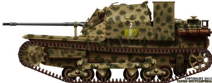 The L3 CC (for Controcarro) was a variant equipped with the German Solothurn 20 mm (0.79 in) gun, produced by Rheinmetall. It had a 850 m/s muzzle velocity, and an adaptable muzzle brake depending on the ammunition used. It was very efficient, and twenty or more L3s were converted as tank hunters during the African campaign.
