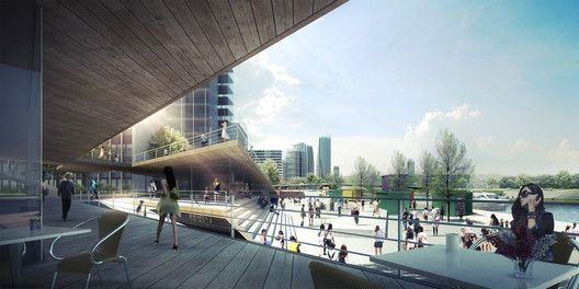 SYNWHA Consortium Wins Competition to Design Waterfront Park for Busan North Port,Urban Core. Image Courtesy of SYNWHA Consulting