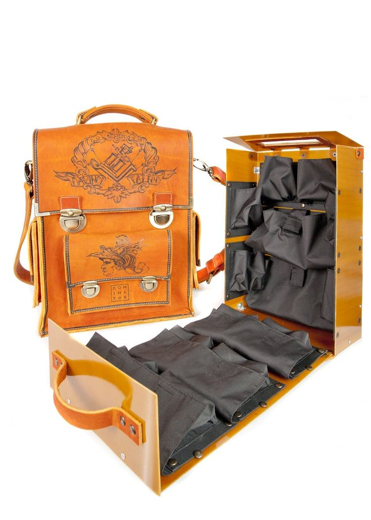 Messenger bag with tattoo case