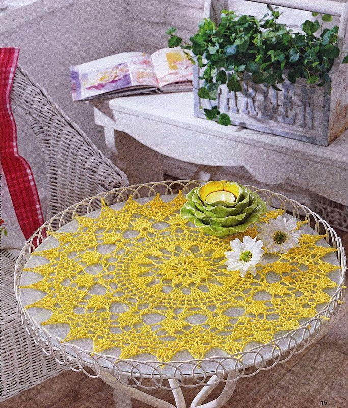 Les 25 meilleures id es concernant napperons au crochet - Modele tapis crochet gratuit ...