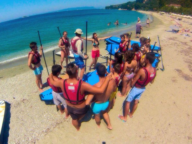 #sporadessup group lesson #skopelos #sup #standuppaddle #beach #life #islandlife #sand