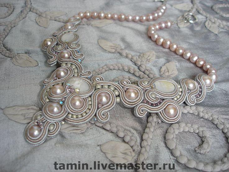 Купить Колье Mariage (3) - свадьба, белый, колье, жемчуг, выпускной, перламутр, свадебное украшение