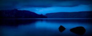 Peaceful lake in the heart of Tasmania shot at dusk using an ND filter