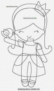 DIY gratuit patron poupée en feutrine ou tissu Princesse