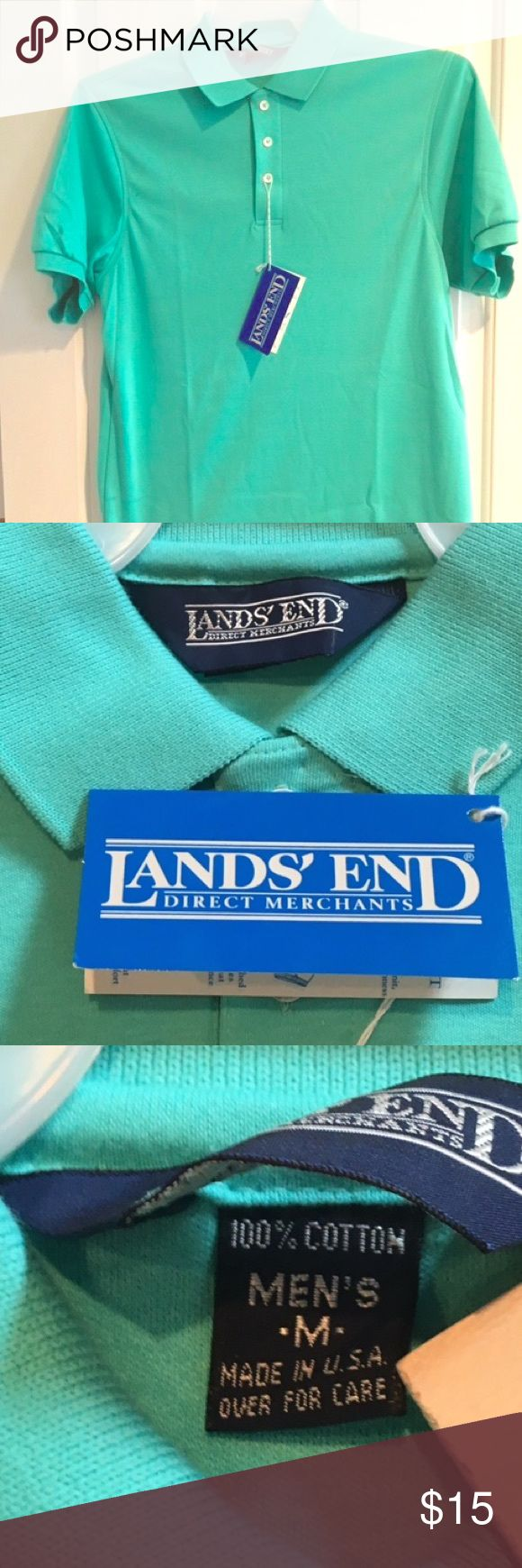 NWT Men's Lands' End Pique Shirt This is a brand new with tags men's short sleeve pique shirt from Lands' End. Beautiful color, this is a great addition to any wardrobe. Very stylish. Lots of great shirts available so bundle for savings. Accepting offers. Thank you. Lands' End Shirts Polos