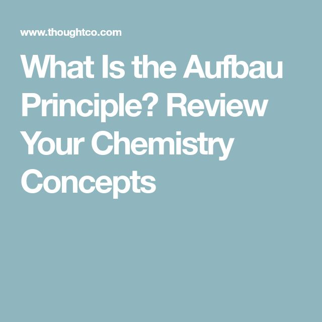 What Is the Aufbau Principle? Review Your Chemistry Concepts Chemistry - new periodic table aufbau