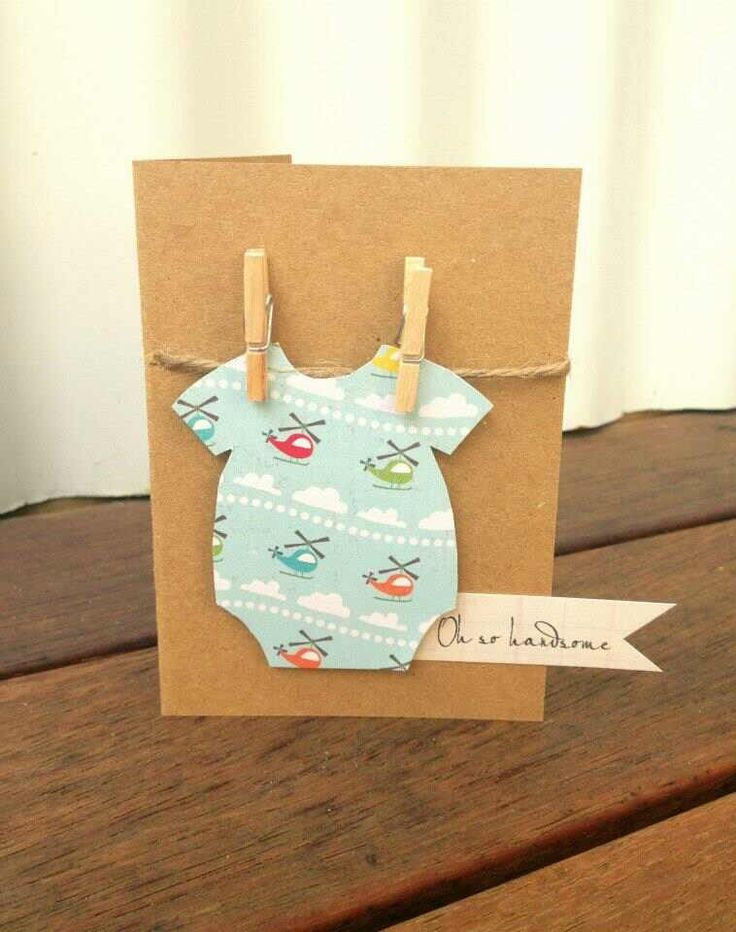 Card Making Ideas New Baby Boy Part - 39: Handmade Gift Card - Oh So Handsome New Baby Boy Onesie - 3 For $12 +