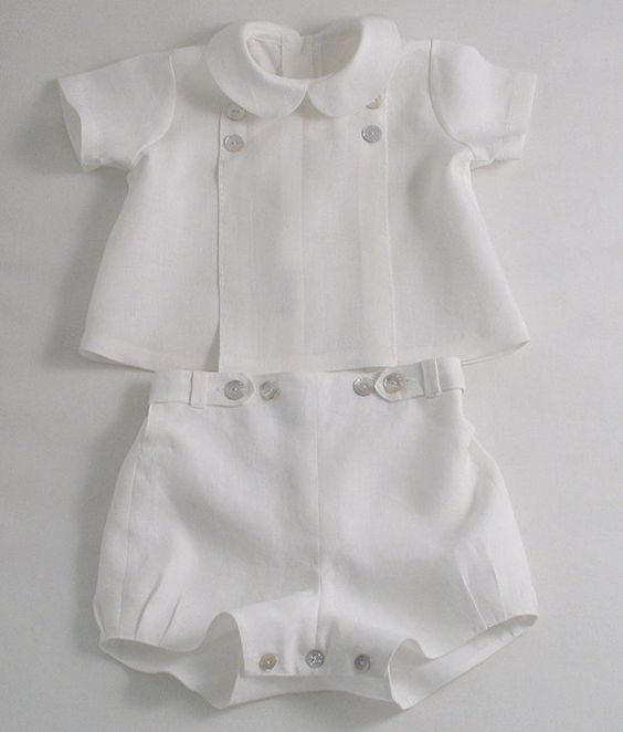 White Linen suit for a Baby Boy by patriciasmithdesigns on Etsy