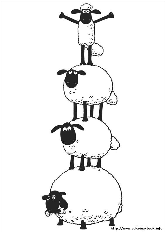 Shaun the Sheep coloring picture                              …                                                                                                                                                                                 More