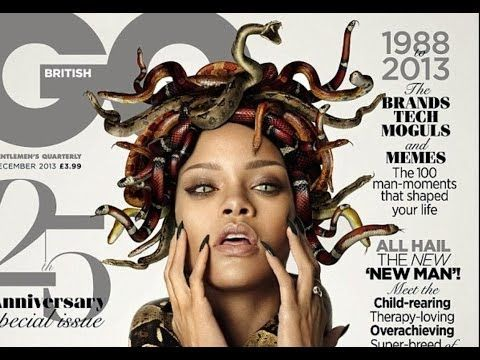 #Rihanna poses as #Medusa on the cover of #GQ magazine!