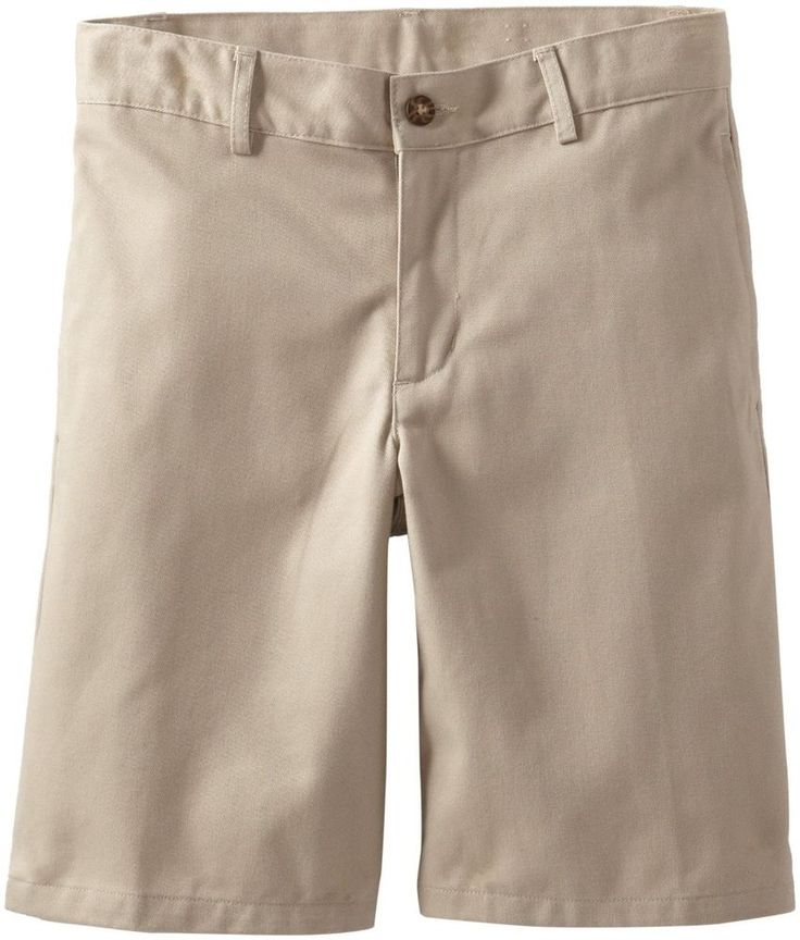 Detalhes sobre Dockers shorts adjustable khaki solid flat front ...