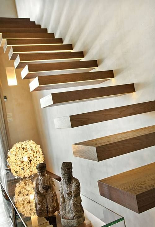 Escaleras en Casas Contemporáneas: At Home, Stairways Stairs, Floating Stairs, Gran Casa, Casa Perfecta, Step Stairways Stairca, Casa Contemporánea, Modern Interiors, Floating Staircases