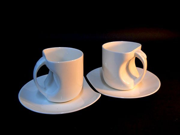 Bone china Cup and Saucer by Vicky Anand Nag