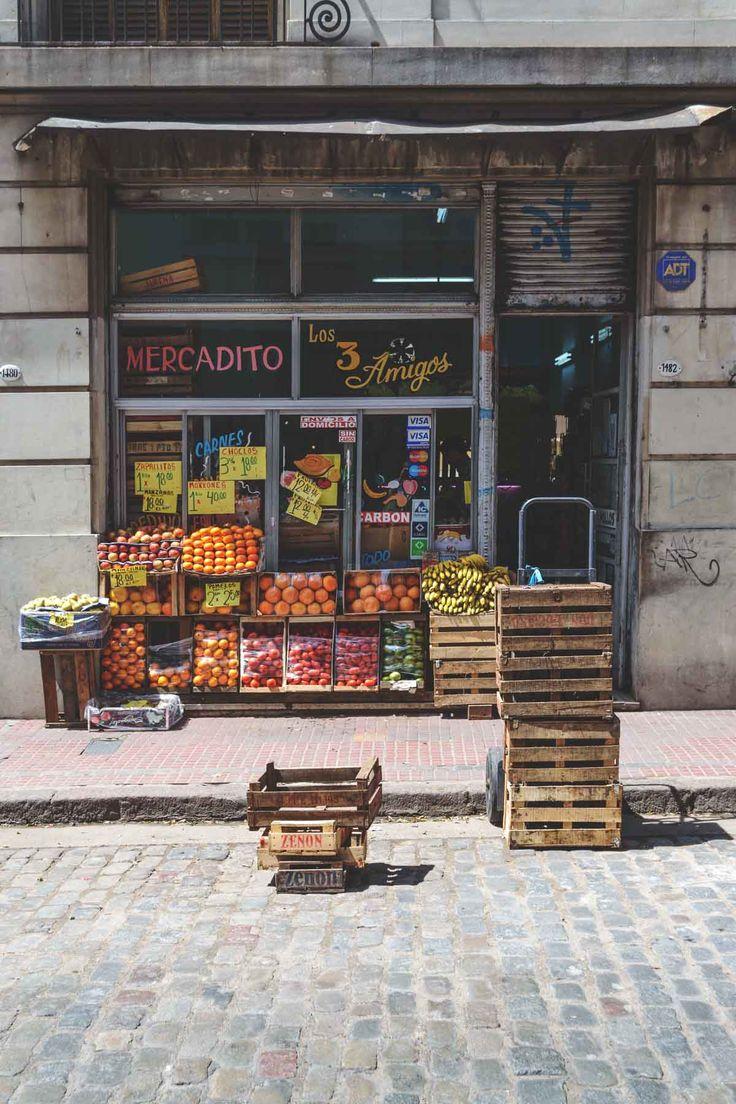 Fruit & vegetable store in San Telmo, Buenos Aires, Argentina | heneedsfood.com