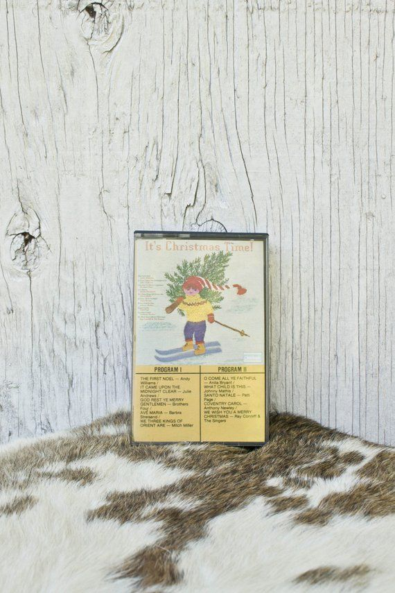 80s Christmas Cassette - Vintage It\u0027s Christmas Time! Tape - 80s