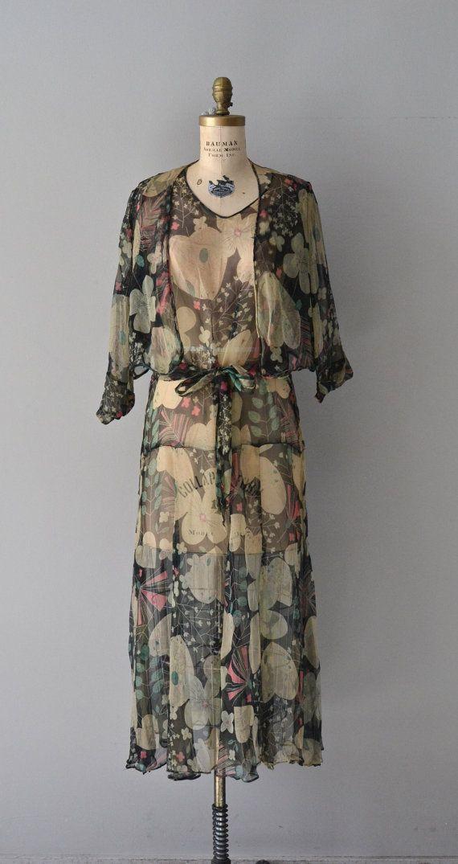Isadora dress / silk chiffon 20s dress / vintage by DearGolden