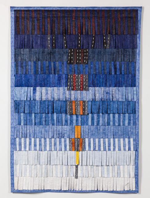 Abdoulaye Konaté, 'Composition B/S (bleu  + plumage),' 2015, Blain | Southern