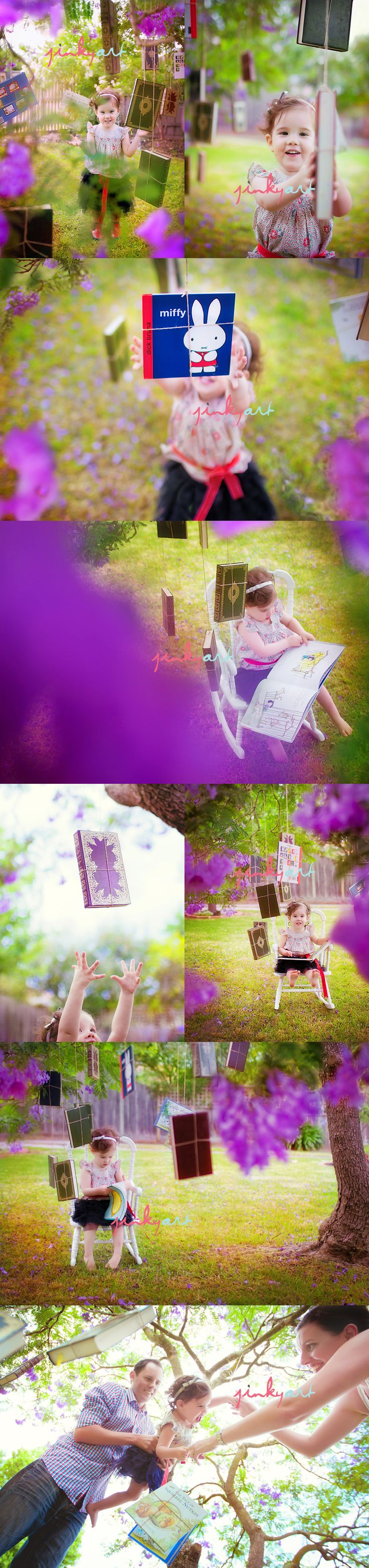 jinkyart is always so awesome.  I'm absolutely in love with books hanging from trees.