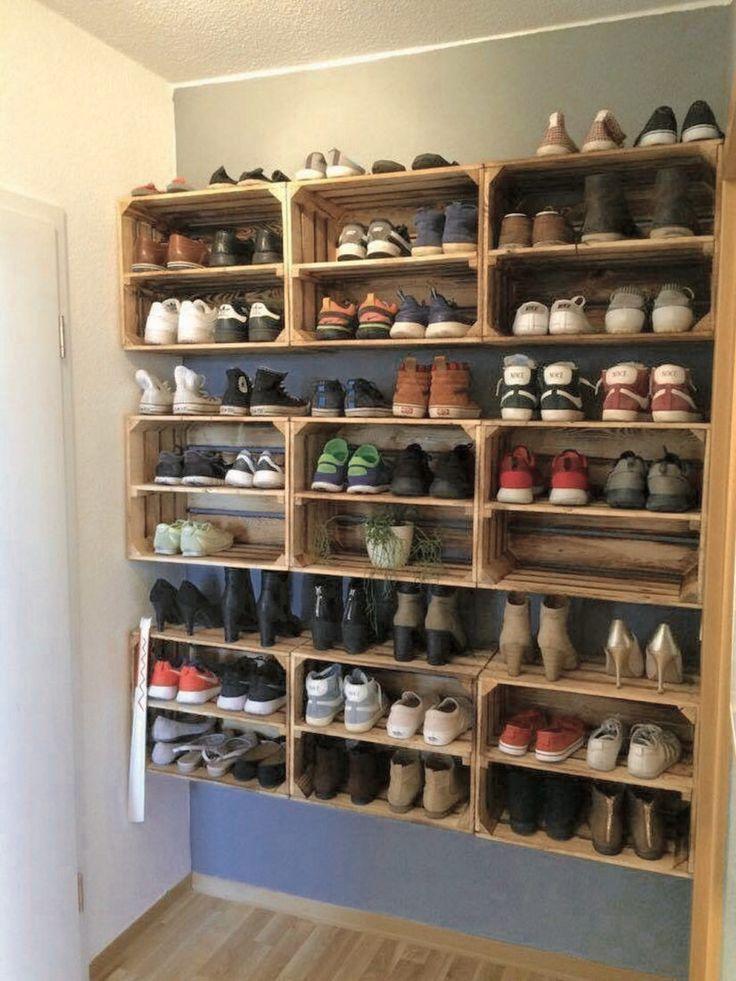 38 best simple diy shoe racks you ll want to make in 2020 on wood shoe rack diy simple id=78481