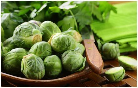"""Brussels Sprouts     You may have resisted Brussels sprouts as a kid, but they're hard to resist once you learn just how healthy these tasty veggies are. Brussels sprouts are a viable source of antioxidants, vitamins, folate, and fiber. Plus, they're a source of iron. Serving Size (1/2 cup), 0.9 milligrams of iron"""