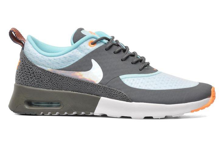 Nike Air Max Thea PRM Glacier Dames (Donkergrijs/Wit/Oranje/Metalen Zilver) Hardloopschoenen