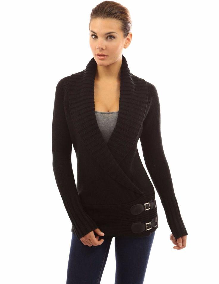 25€ Pull fashion col revers drapé en V 2 coloris - bestyle29.com