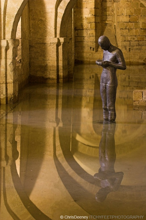 I have always wanted to see this Antony Gormley piece in Winchester Cathedral... Stunning