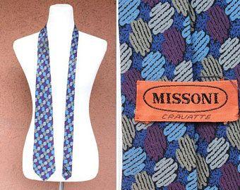 1980's Missoni Silk Tie - 80's Psychedelic Motif Tie