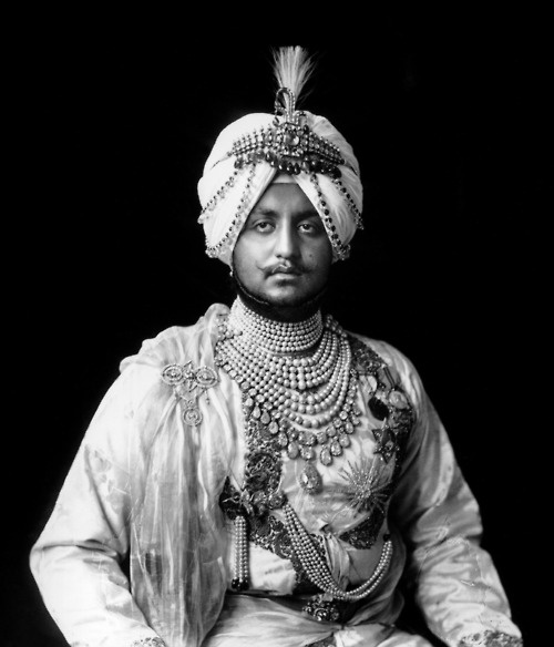 Maharaja Bhupinder Singh, a religious and military leader of the Sikh kingdom of Patiala (modern Punjab, India), 1911