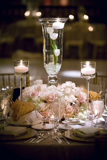 352 Best Centerpiece Flowers Amp Candles Images On Pinterest