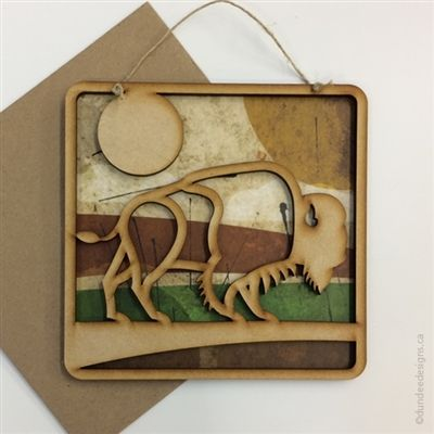 Bison - Greeting Card/Wall Art by Shirley Lloyd-Davies, Dundee Designs Inc.
