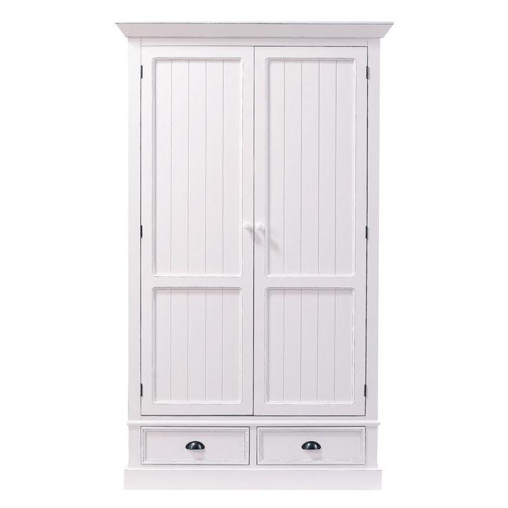 Guardaroba bianco in legno L ... - Newport