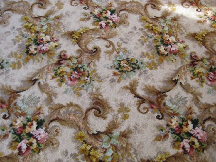 Axminster Period Style Fitted Floral Wool Carpet Adelaide