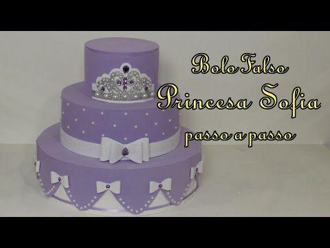Bolo Falso Princesa Sofia passo a passo - YouTube